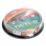 Диски DVD+R VS Box 10 8,5GB Double Layer Full Ink Print (10/200)