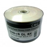 Диски DVD+R CMC Bulk 50 8,5GB Double Layer Full Ink Print (50/600)
